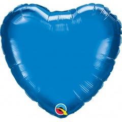"Metallic Ruby Red Heart Foil Balloon - 18""/45 cm, Qualatex 23769, 1 piece"