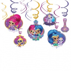 Serpentine decorative Shimmer and Shine pentru petrecere, Amscan 9902166, set 6 buc