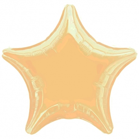 Metallic Pearl Ivory Jumbo Stars Foil Balloons - 80 cm, Amscan 1644199, 1 piece