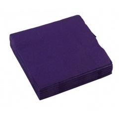 Servetele de masa uni purple pentru petreceri - 33 cm, Amscan 50015.25, Set 20 buc