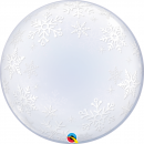 Balon Deco Bubble Frosty Snowflakes 24''/61cm, Qualatex 52005