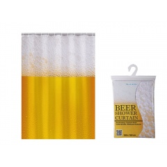 Shower Curtain Beer, 180 x 180 cm, Radar 31/4053