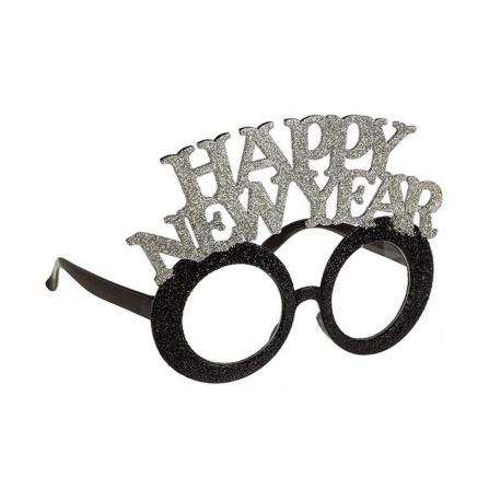 Ochelari cu sclipici pentru Revelion, auriu/argintiu, Radar 181202