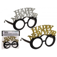 Plastic party glasses with glitter, Happy New Year,Radar 181202