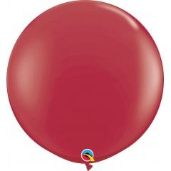 Baloane latex Jumbo 3 ft Maroon, Qualatex 57134, set 1 buc