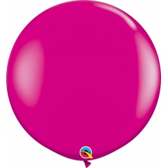 Jumbo latex balloon 3 ft Wild Berry, Qualatex 25587, 1 pc
