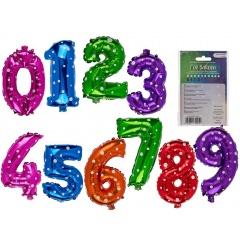 Colourful foil number balloon - 40 cm, Radar 62/0823, 1 pc