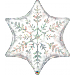Shape Foil Balloon Dazzling Snowflake - 89 cm, Qualatex 55327
