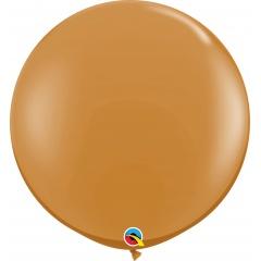 Jumbo latex balloon 3 ft Mocha Brown, Qualatex 44564, 1 pc