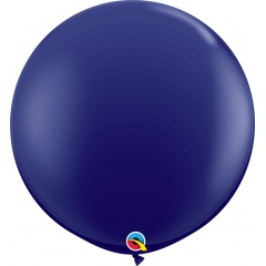 Baloane latex Jumbo 3 ft Navy, Qualatex 57129, set 1 buc