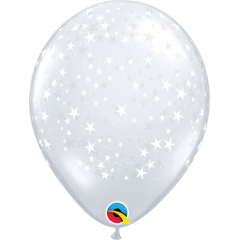 "11"" Printed Latex Balloons Snowflakes, Qualatex 79210"