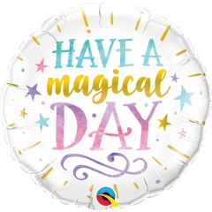 Balon Folie 45 cm Have a magical day, Qualatex 57262