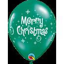 Baloane latex Merry Christmas, Qualatex 21604, Set 6 buc