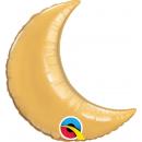 Foil Balloon Gold Crescent Moon- 23 cm, Qualatex 42122