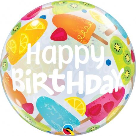 """Balon Bubble 22""""/56 cm Frozen Treats, Qualatex 49089"""