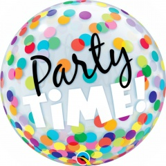 """Balon Bubble 22""""/56 cm, Party Time!, Qualatex 23636"""