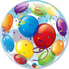 """Balloons Bubble Balloon - 22""""/56 cm, Qualatex 15606, 1 piece"""