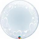 """Balon Deco Bubble, Inimi - 24""""/61 cm Qualatex 29505"""