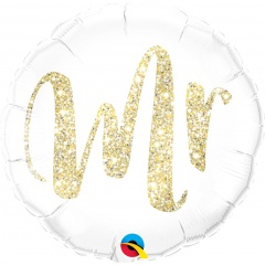 Mr. Glitter Gold Foil Balloon - 45 cm, Qualatex 57313