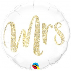 Balon Folie 45 cm Glitter - Mrs, Qualatex 57316