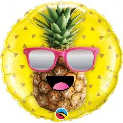 Mr. Cool Pineapple 45 cm foil balloon, Qualatex 57271