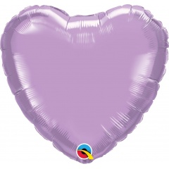 Balon folie Pearl Lavender in forma de inima - 45 cm, Qualatex 99348