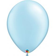Balon Latex Pearl Light Blue 16 inch (41 cm), Qualatex 43888, set 50 buc