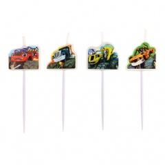 Blaze Mini-Figurine Candles, Amscan 9901364, Pack of 4 pieces