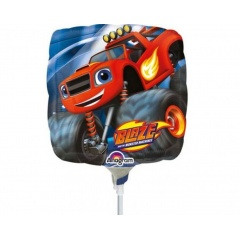 Balon Mini Folie Blaze and the Monster Machines - umflat + bat si rozeta, 23 cm, Amscan 32398