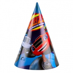 Blaze Party Hats - Amscan 9901361, Pack of 6 pieces