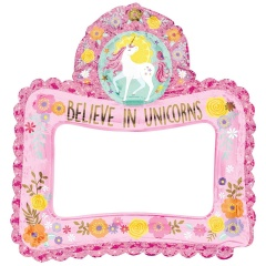 Magical Unicorn Inflatable Photo Frame Selfie Prop Girls Kids Birthday Party - 66 x 68 cm, Amscan 110477