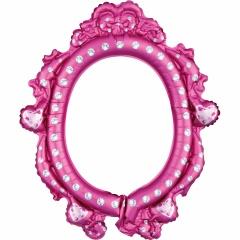 Balon Folie Rama fotografii selfie Disney Princess, Amscan 38181, Amscan 38184