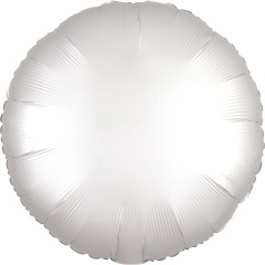 Balon folie 45 cm rotund Satin Luxe White, Amscan 38589