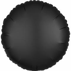 """18"""" Satin Luxe Onyx Round Foil Balloon, Amscan 38034"""