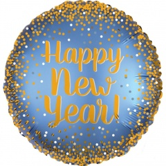 "Balon Folie 45 cm ""Happy New Year"", Amscan 38326"