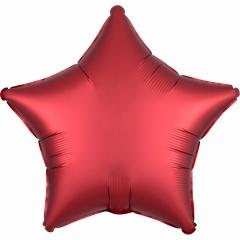 "18"" Satin Luxe Sangria Star Shaped Foil Balloon, Amscan 38585"