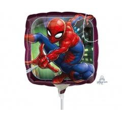 "9"" Spider-Man Mini Foil Balloon, on stick, Amscan 34668"