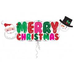 Balon Folie Figurina Merry Christmas - 104 x 40 cm, Amscan 33970