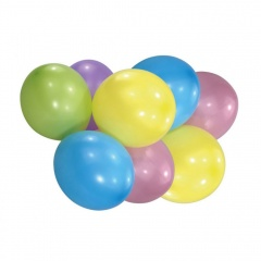 "10"" Latex Balloons Pastel Assorted, Amscan 6464, pack of 8 pieces"