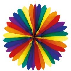 Decoratiune multicolora din hartie - 120 cm, Asmcan 4144, 1 buc
