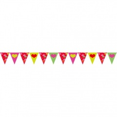 Pennant Banner Lovely Moments, 20 cm x 4 m, Amscan 400278