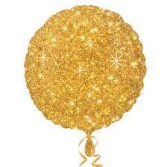 "18"" Faux Sparkle Gold Foil Balloon, Amscan 32653"