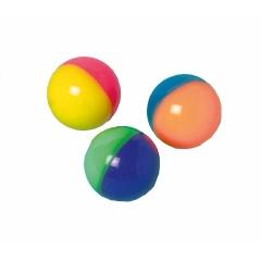 Minge cauciuc in doua culori neon - 3.5 cm, Amscan 390506, diverse modele, set 12 buc