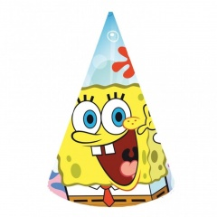 SpongeBob Party Hats, Amscan 997782, 6 pieces