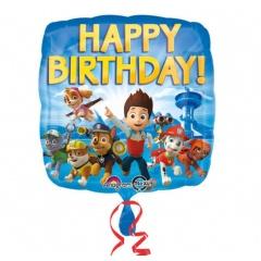 Paw Patrol Happy Birthday Foil Balloon, 45 cm, Amscan 30180