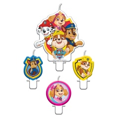 Paw Patrol Figurine Candles, Amscan 9903829, Pack of 4 Pieces