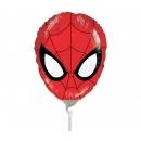 Balon mini figurina Ultimate Spider-man, umflat + bat si rozeta, Amscan 26331
