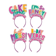 Headbands Young And Fabulous, Amscan 250839, pack of 4 pieces