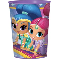 Pahar plastic Shimmer and Shine pentru copii - 473 ml, Amscan 421653, 1 bucata