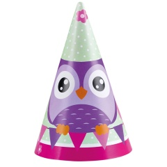 Happy Olw Party Hats - 16.5 cm, Amscan 998352, Pack of 6 pieces